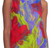 RED BLOOMS OF SUMMER Contrast Tank