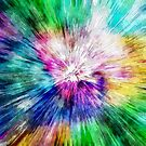 Colorful Tie Dye Abstract by Phil Perkins