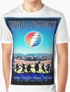 DEAD AND COMPANY SUMMER TOUR 2016 ALPINE VALLEY MUSIC THEATRE,EAST TROY,WI Graphic T-Shirt