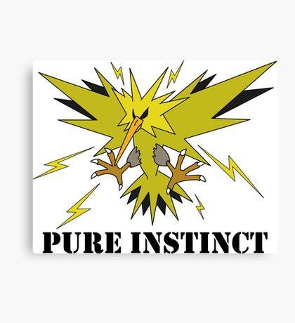 Pure Instinct Zapdos  Canvas Print