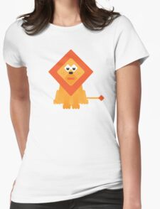 Cute Lion Womens Fitted T-Shirt