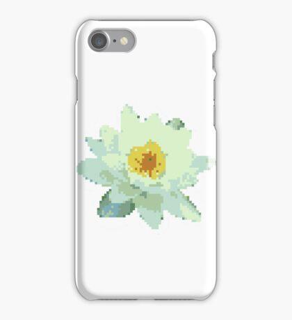 8bit lotus iPhone Case/Skin