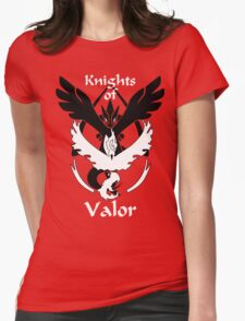 Knights of Valor, black and white Womens Fitted T-Shirt