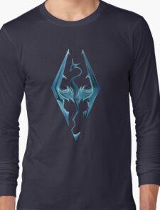 Skyrim blue logo Long Sleeve T-Shirt