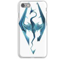 Skyrim blue logo iPhone Case/Skin