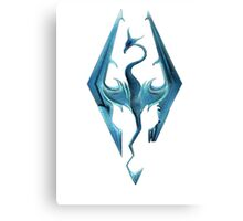 Skyrim blue logo Canvas Print