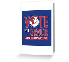 Gracie Allen for President Greeting Card