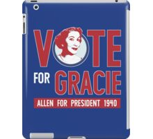 Gracie Allen for President iPad Case/Skin