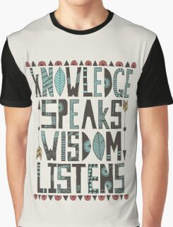 Knowledge Speaks Graphic T-Shirt