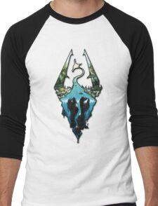 Custom Skyrim Logo Men's Baseball ¾ T-Shirt
