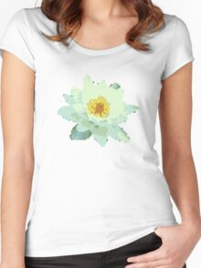 8bit lotus Women's Fitted Scoop T-Shirt