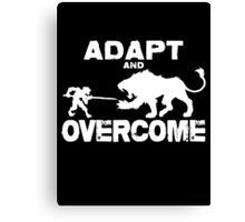 Adapt and Overcome - White Graphic Canvas Print