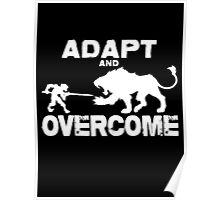Adapt and Overcome - White Graphic Poster