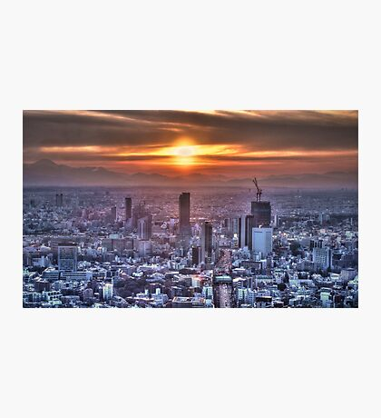 Sunset over Tokyo Japan HDR Photographic Print