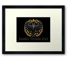 Family Thang Ent Official Logo Framed Print