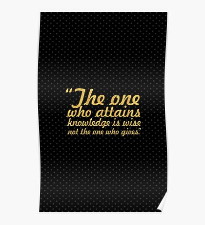 The one who... Inspirational Quote Poster