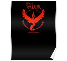 Valor - Pokemon GO! Team Valor as Game of Thrones Sigil Banner Poster