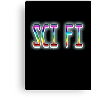 SCI FI, Science Fiction, Hard SF, Soft SF, on BLACK Canvas Print