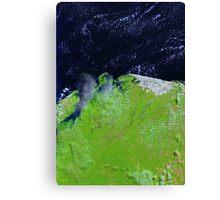 Brazil Lencois Maranhenses National Park Sao Marcos Bay Satellite Image Canvas Print