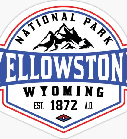 YELLOWSTONE NATIONAL PARK WYOMING MOUNTAINS HIKING CAMPING HIKE CAMP 1 Sticker