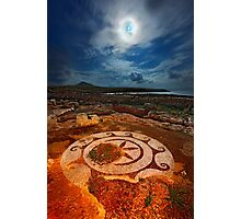 Ancient mosaic at Cape Tainaron Photographic Print