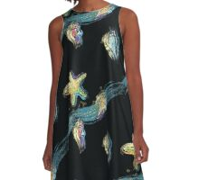 Starfish touch the moon A-Line Dress