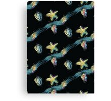 Starfish touch the moon Canvas Print