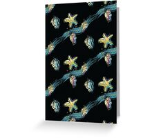 Starfish touch the moon Greeting Card