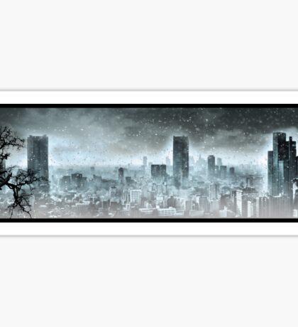 Nuclear winter. Apocalypse Sticker
