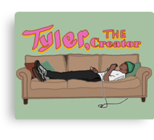Tyler, The Creator on a couch Canvas Print
