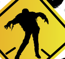 Zombie Crossing Xing Sticker