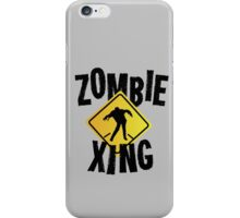 Zombie Crossing Xing iPhone Case/Skin