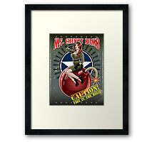 Ms. Cherry Bomb - military pin up girl  Framed Print