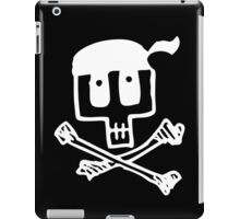 Cute Pirate Skull and Cross Bones White iPad Case/Skin