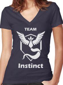 PokeTroll Shirt Instinct Women's Fitted V-Neck T-Shirt