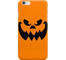 Scary Pumpkin Jack-o-lantern iPhone Case/Skin