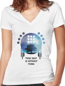 Overwatch - True Self is without Form Women's Fitted V-Neck T-Shirt