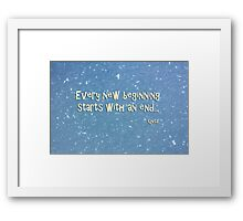 Every new beginning, starts with an end...  Qnita - Abstract Polk Dots - Photography Framed Print