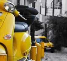 YELLOW SCOOTER MOTORBIKE VITANGE STREET Sticker