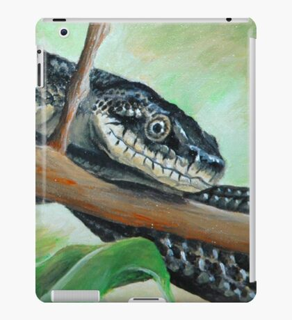 Friendly Black Rat Snake iPad Case/Skin