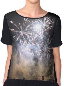 Fireworks on the Lagoon III Chiffon Top