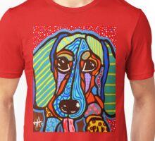 Buster Dachshund Dog Designer Design Puppy Weiner Hot Dog Colorful Fun Art Unisex T-Shirt