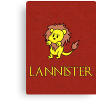Game of Thrones - House Lannister Sigil Canvas Print