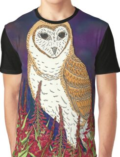 Fireweed and Barn Owl Graphic T-Shirt