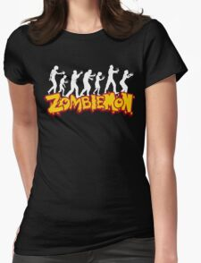 Zombiemon black Womens Fitted T-Shirt