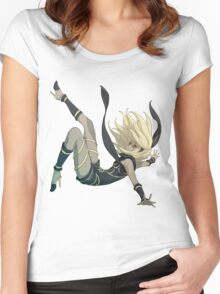 Gravity Rush - Falling Kat Women's Fitted Scoop T-Shirt