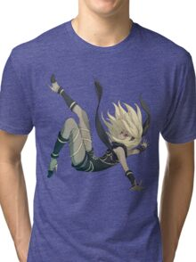 Gravity Rush - Falling Kat Tri-blend T-Shirt