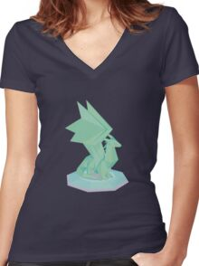 Spyro the Dragon's Crystal Dragon Women's Fitted V-Neck T-Shirt