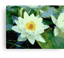 8bit lotus Canvas Print