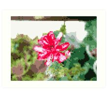 8 bit tongue flower Art Print